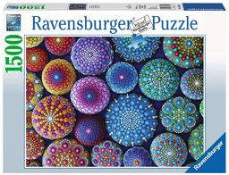 Ravensburger Puzzle 16365 Ravensburger Kolorowe Kamienie 1500 Elementów Puzzle Dla Dorosłych (16365) Unikalne Elementy, Technologia Softclick - Klocki Pasują Idealnie