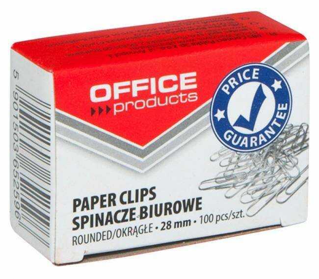 Spinacze biurowe okrągłe 28 mm (100) - X02405