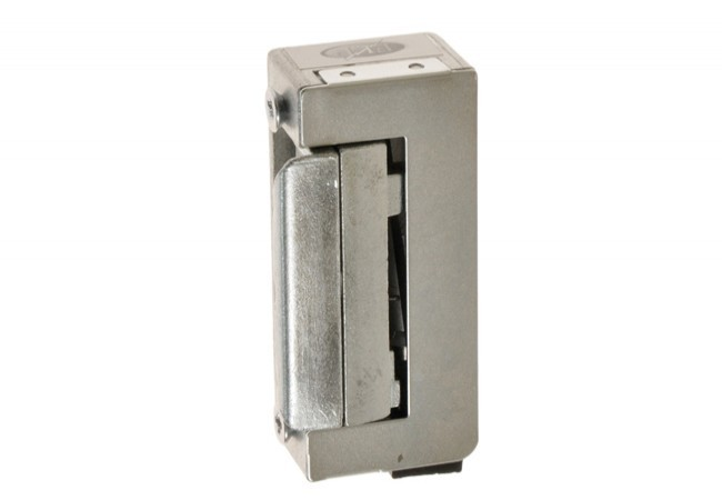 Zaczep elektromagnetyczny R-4 krótki 12 V z blokadą symetryczny