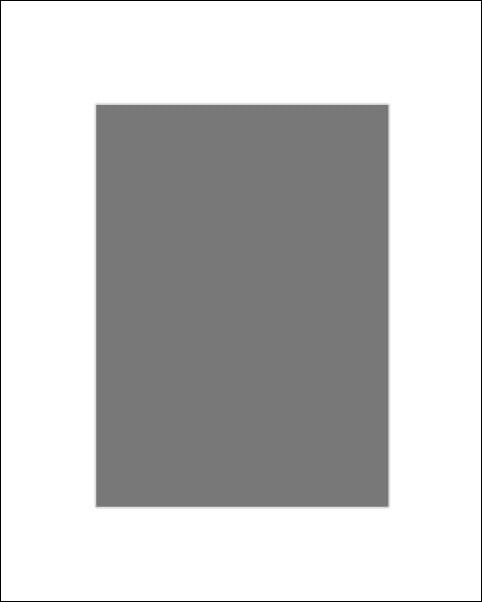Passe-partout białe 60x80 cm