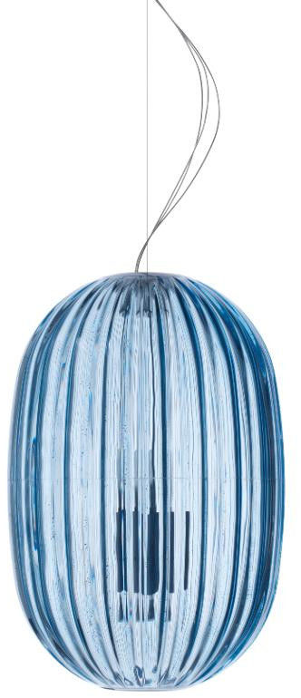 Plass Media niebieski - Foscarini - lampa wisząca