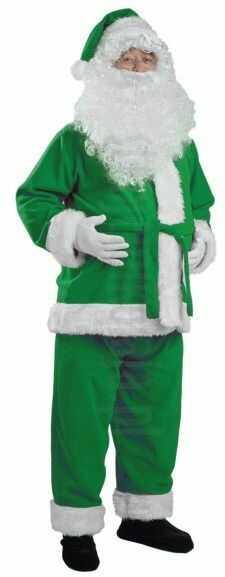 Zielony strój Mikołaja - kurtka, spodnie i czapka
