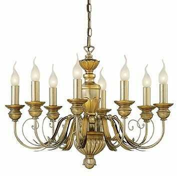 Lampa wisząca Dora SP8 020839 Ideal Lux klasyczna oprawa kolorze złotym