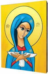 Obraz na desce lipowej, Pneumatofora, Matka Boża niosąca Ducha Św.