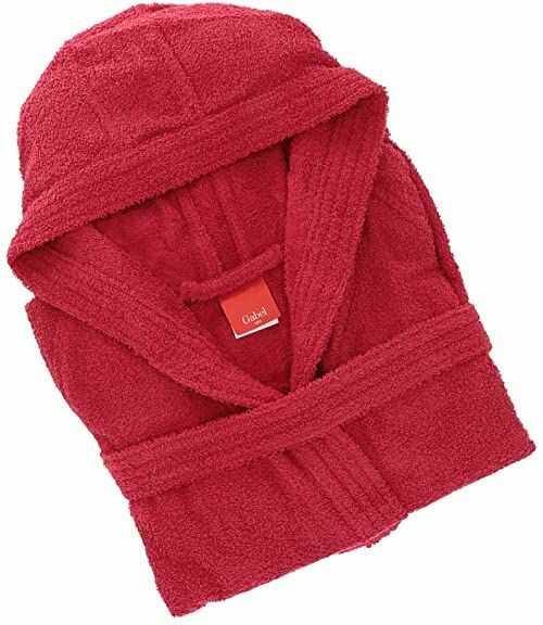 Gabel 09300 6T szlafrok dla dorosłych, 100% bawełna, bordowy, rozmiar L