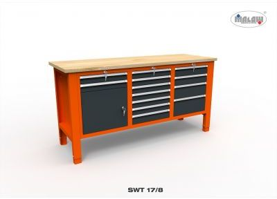 """Stół narzędziowy SWT 17/08 """"TRÓJKA"""" warsztat metalowy na klucz"""
