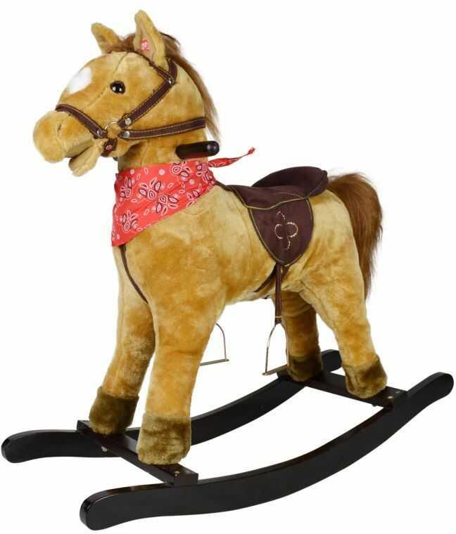 Koń na biegunach Morgan z efektami dźwiękowymi, 74 x 30 x 64
