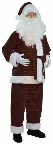 Ciemnobrązowy strój Mikołaja - kurtka, spodnie i czapka