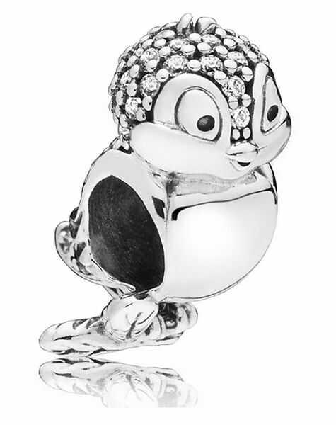 Rodowany srebrny charms do pandora ptaszek ptak bird cyrkonie srebro 925 QS0017