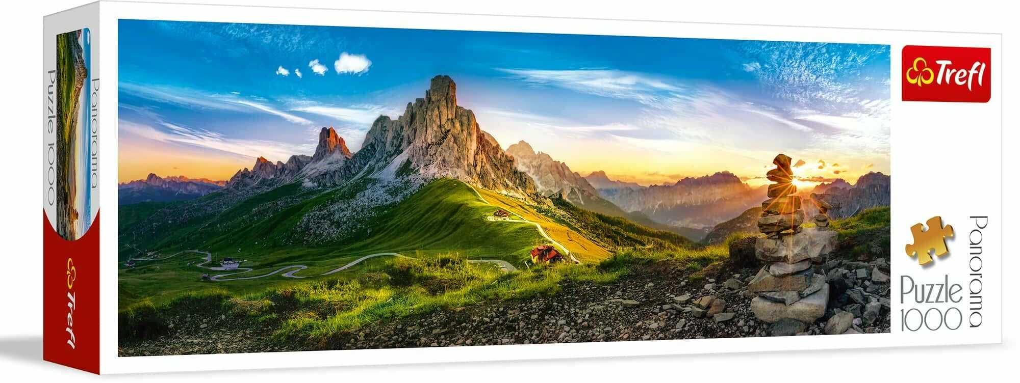 Trefl Passo di Giau, Dolomity Puzzle Panoramiczne 1000 Elementów o Wysokiej Jakości Nadruku, od 12 lat