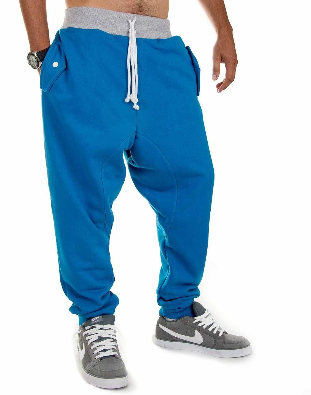 Niebieskie spodnie dresowe ''Marco'' Carlo Lamon