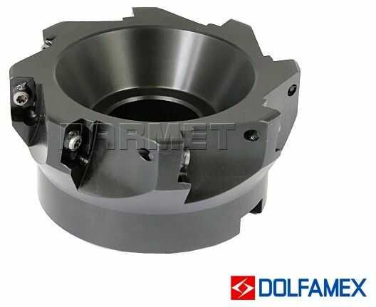 Frez składany nasadzany 100 mm walcowo-czołowy 8-ostrzowy - 220.699 -100 - DOLFAMEX