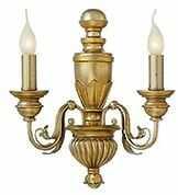 Kinkiet Dora AP2 020846 Ideal Lux klasyczna oprawa w kolorze antycznego złota