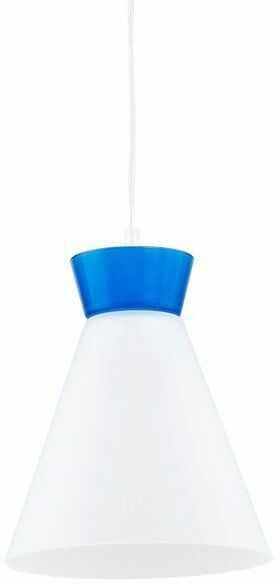 Nowoczesny lampa sufitowa RONI I niebieski śr. 23cm