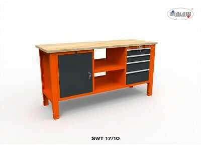 Stół narzędziowy SWT 17/10 ''TRÓJKA'' warsztat metalowy na klucz