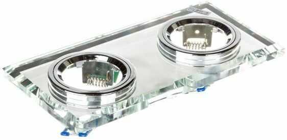 Oprawa punktowa 2x50W GX5,3 IIIkl. 12V IP20 MORTA CT-DSL250-SR szkło 19362