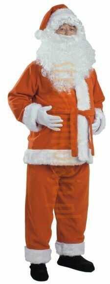 Rudy strój Mikołaja - kurtka, spodnie i czapka
