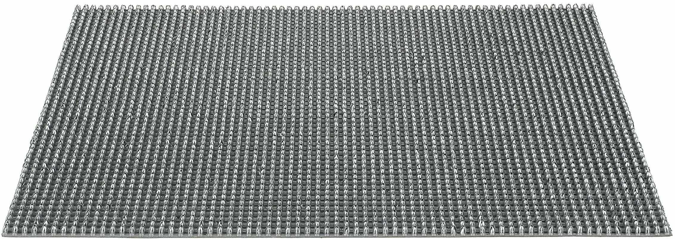 Wycieraczka Queens z polietylenu, do użytku na zewnątrz, na wszystkie pory roku, srebrna, 60 x 80 cm