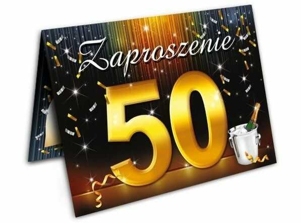 Zaproszenie na 50 urodziny z kopertą 1szt. ZX6801