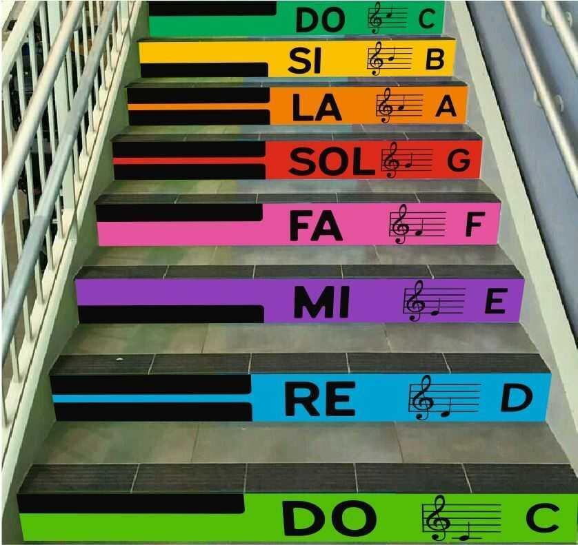Gama - zestaw naklejek na schody