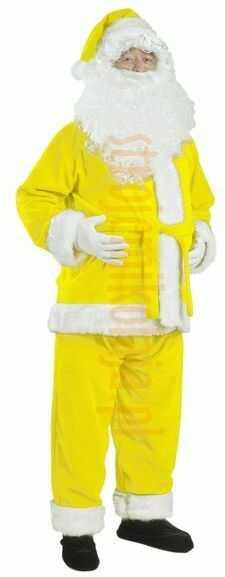 Cytrynowy strój Mikołaja - kurtka, spodnie i czapka