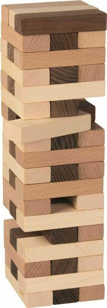 Drewniana jenga Wieża brown 56685-Goki Nature, zręcznościowe gry dla dzieci