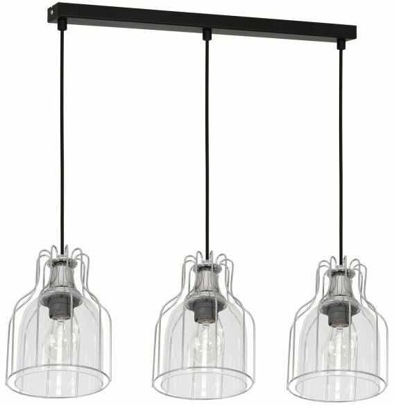 Lampa wisząca Luminex Aria 3 x 60 W E27 chrome/black