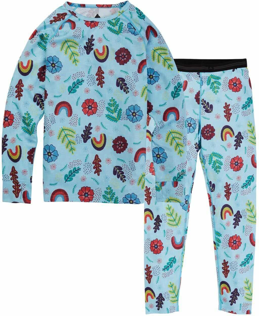 bielizna termoaktywna dziecięca - zestaw BURTON YOUTH 1ST LAYER SET Embroidered Floral