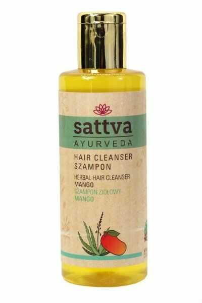 Naturalny Szampon do Włosów Mango, Sattva, 210 ml