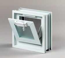 Okno wentylacyjne 1x1 do luksferów pustaków szklanych