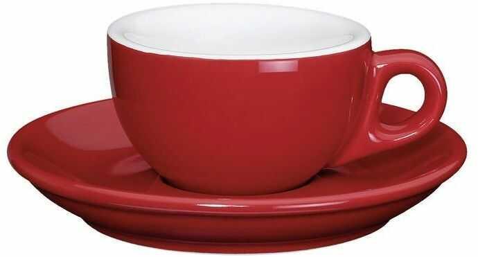 Cilio - roma - filiżanka do espresso, 50 ml, czerwona