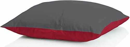 Sogni e capricci GUANC ICELAND grigio scu poduszka wypełniona puchem zimowym, 50 x 80 cm, bordowa/ciemnoszara