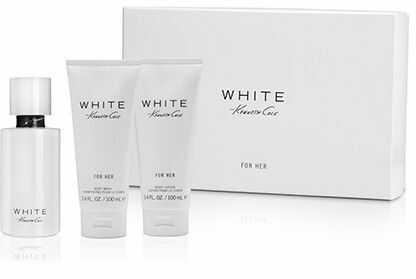 Kenneth Cole White for Her balsam do ciała 100ml + żel do kąpieli 100ml + woda perfumowana - 100ml - Darmowa Wysyłka od 149 zł