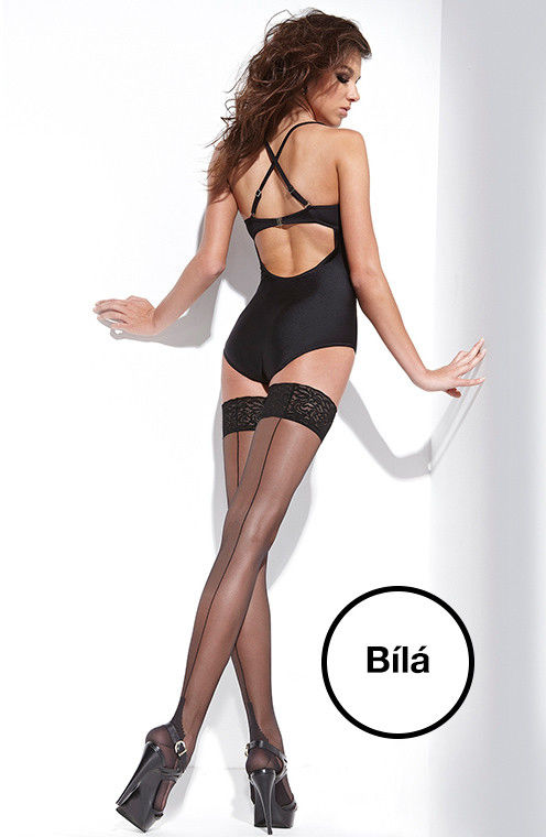Bas Bleu Amelia - Thigh Stockings White