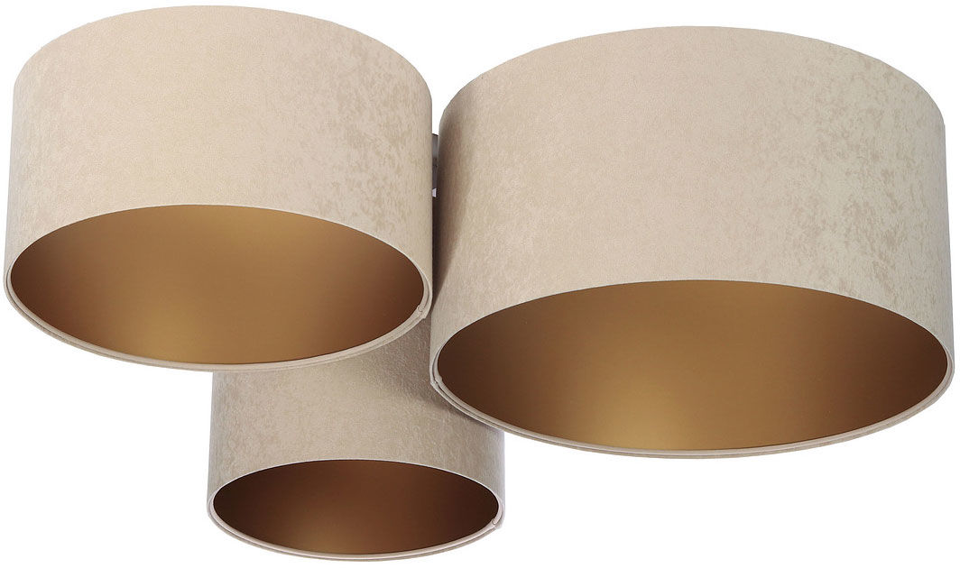 Beżowo-złota plafoniada w stylu glamour- EXX31-Tyrso