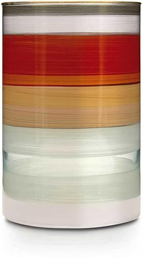 Angela Neue Wiener Werkstätte Wazon cylindryczny MIKE-Orange szklany wazon ręcznie malowany, pozłacany, szkło, 10 cm