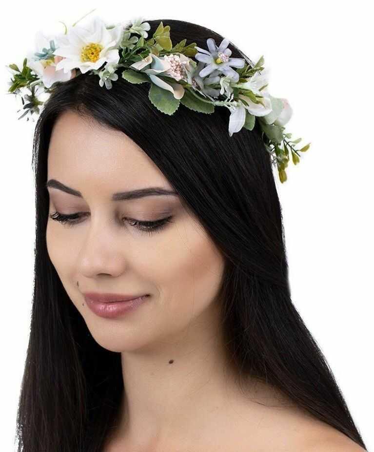 Wianek na głowę boho kwiaty panieński ślubny