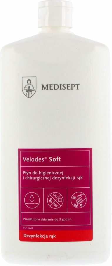 VELODES SOFT 1 l - płyn do higienicznej i chirurgicznej dezynfekcji rąk