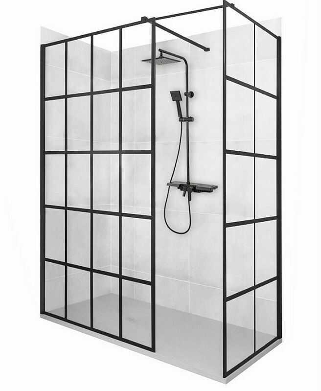 Kabina prysznicowa walk-in 90x90 Bler-1 Rea