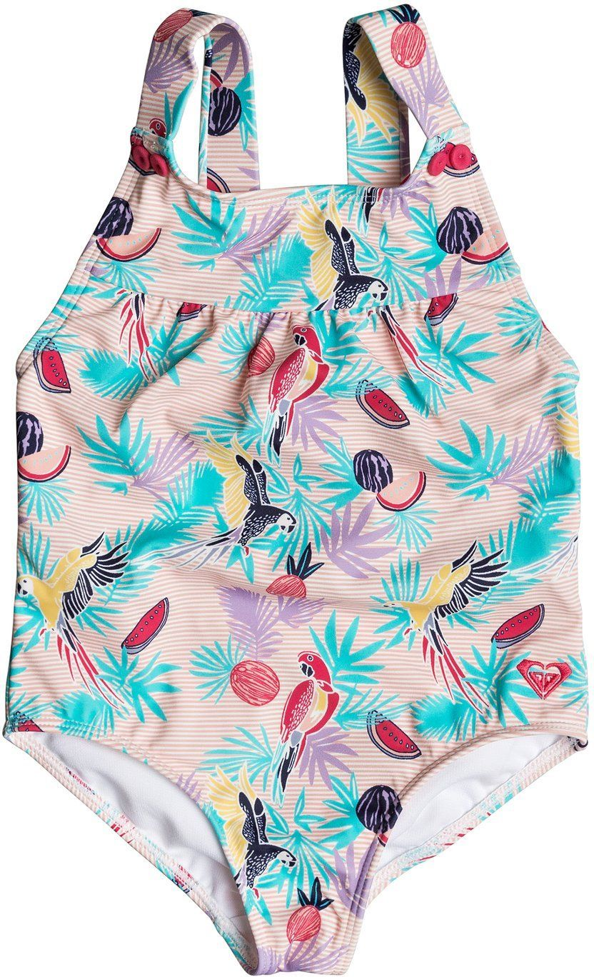 strój kąpielowy jednoczęściowy dla dzieci ROXY VINTAGE TROPICAL 1 PC Tropical Peach Parrots Island - MDR6