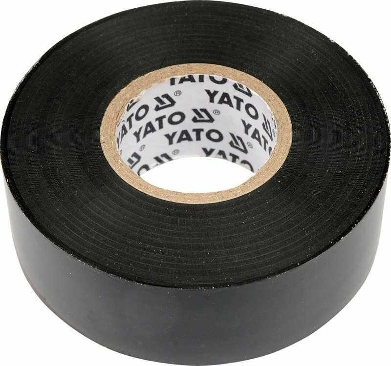 Taśma elektroizolacyjna 25mmx20mx0,19mm, czarna Yato YT-8174 - ZYSKAJ RABAT 30 ZŁ