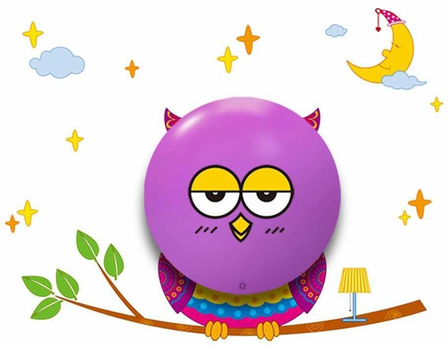 Milagro OWL ML112 kinkiet lampa ścienna dziecięca sowa włącznik dotykowy LED 0,6W 12,5cm