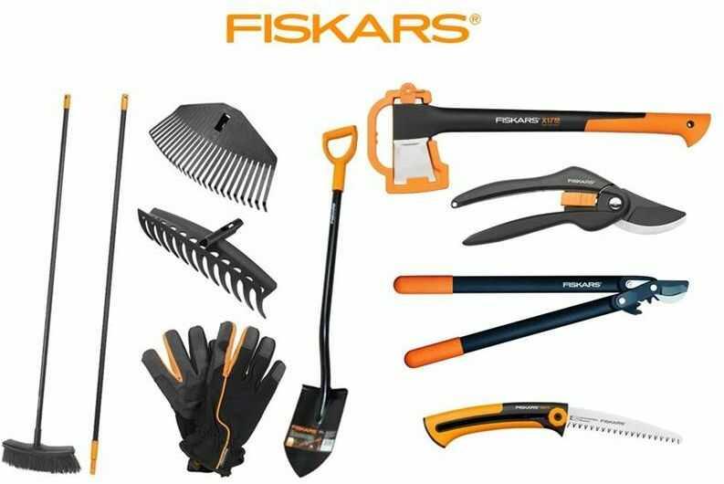 FISKARS Zestaw Fiskars-10 sztuk narzędzi ogrodowych start-fis