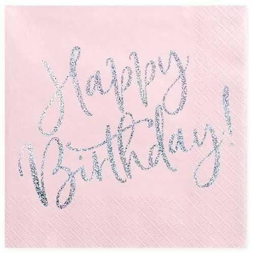Serwetki na urodziny Happy Birthday 33 cm 20 szt. SP33-80-081PJ