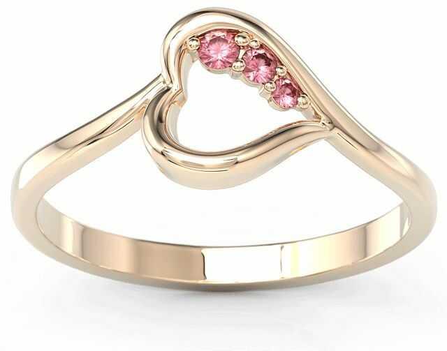Pierścionek z różowego złota z rubinami bp-82p