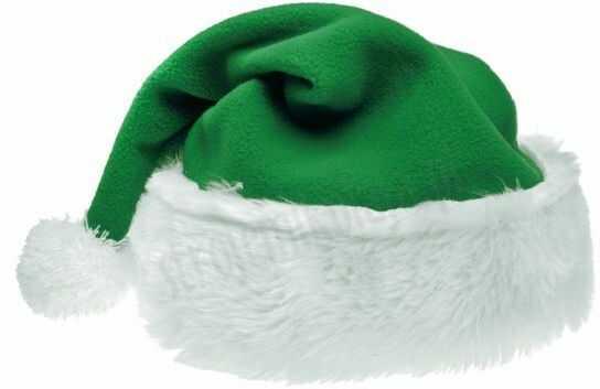 Czapka Mikołaja zielona