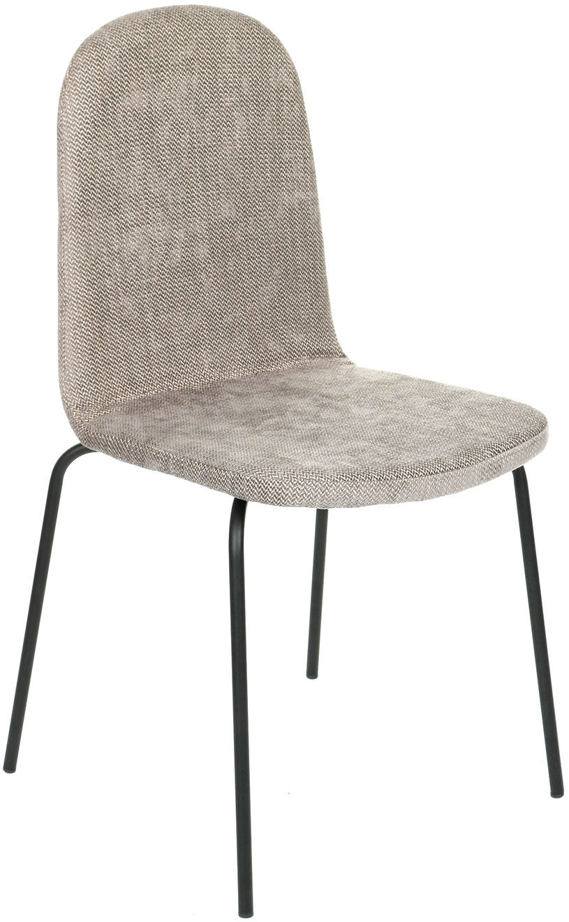 Krzesło Malmo Steel, tapicerowane, na metalowych nóżkach, w stylu skandynawskim, wygodne, do jadalni, do kawiarni, do hotelu