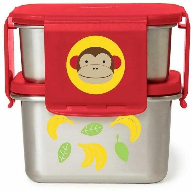 Stalowe pudełko śniadaniowe Małpa 252483-Skip Hop, pojemniki na jedzenie