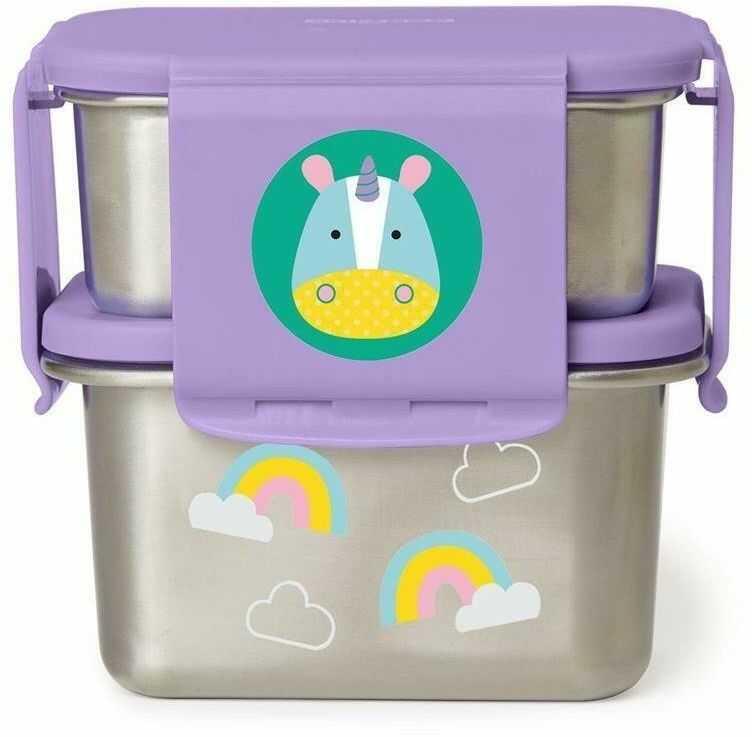 Stalowe pudełko śniadaniowe Jednorożec 252725-Skip Hop, pojemniki na jedzenie