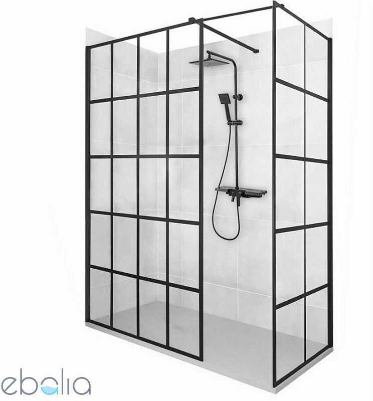Kabina prysznicowa walk-in 90x110 Bler-1 Rea